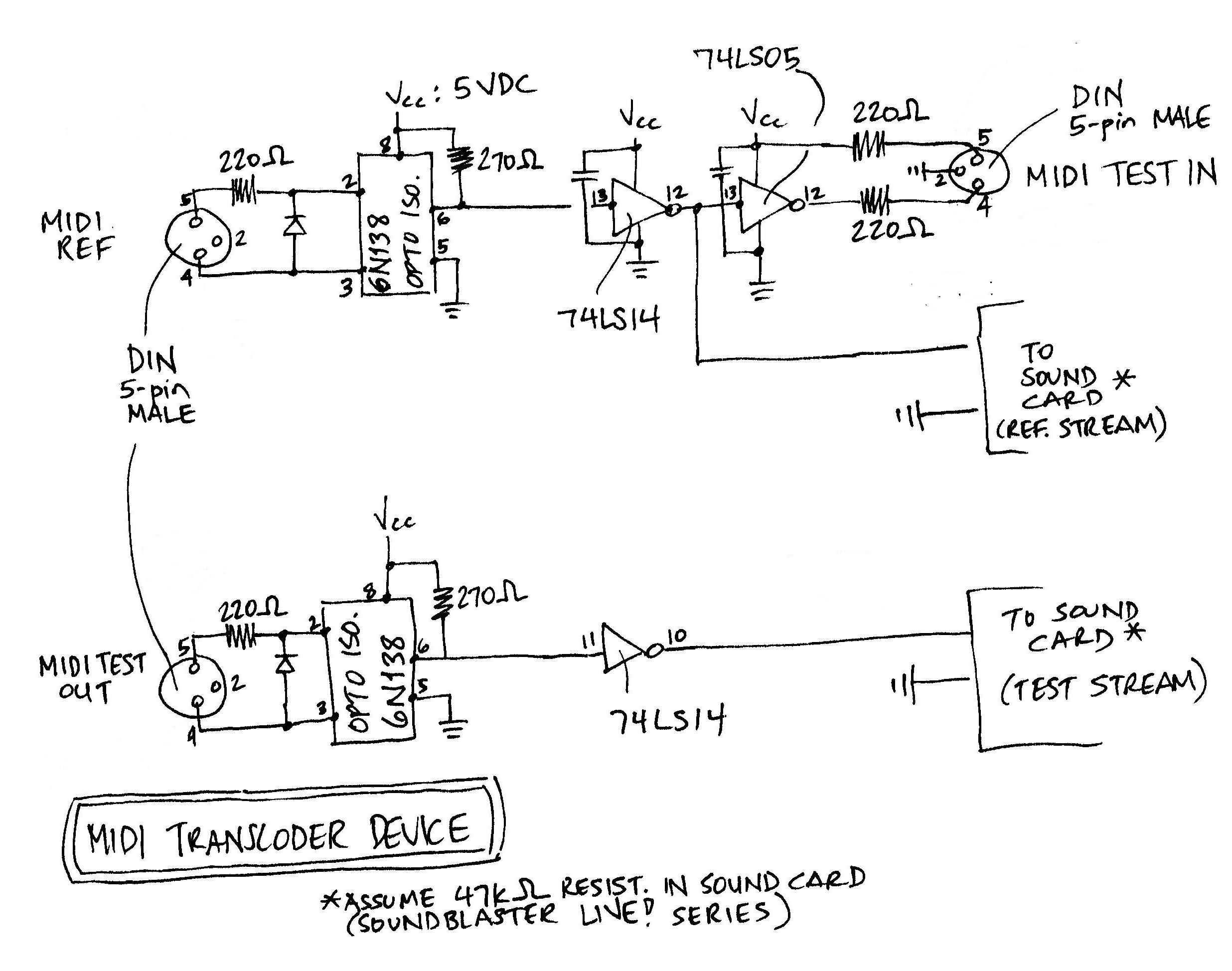 A hand-drawn schematic of ...